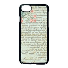Vintage Floral Background Paper Apple Iphone 8 Seamless Case (black)