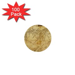 Vintage Map Background Paper 1  Mini Buttons (100 Pack)