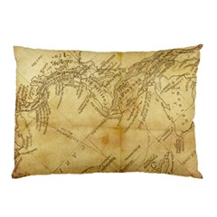 Vintage Map Background Paper Pillow Case (two Sides)