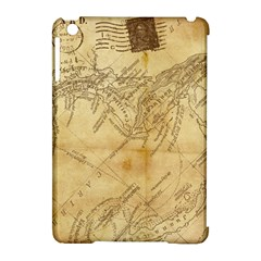 Vintage Map Background Paper Apple Ipad Mini Hardshell Case (compatible With Smart Cover)