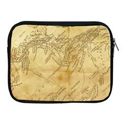Vintage Map Background Paper Apple Ipad 2/3/4 Zipper Cases