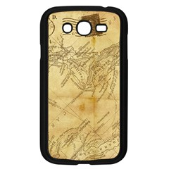 Vintage Map Background Paper Samsung Galaxy Grand Duos I9082 Case (black)