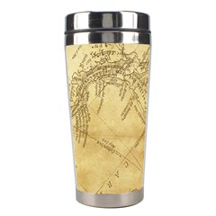 Vintage Map Background Paper Stainless Steel Travel Tumblers