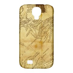 Vintage Map Background Paper Samsung Galaxy S4 Classic Hardshell Case (pc+silicone)