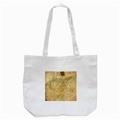 Vintage Map Background Paper Tote Bag (white)