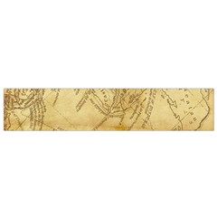 Vintage Map Background Paper Small Flano Scarf