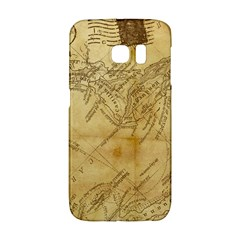 Vintage Map Background Paper Galaxy S6 Edge