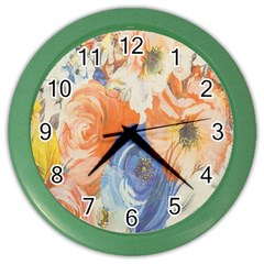 Texture Fabric Textile Detail Color Wall Clocks