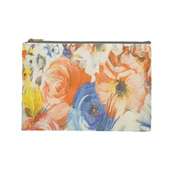 Texture Fabric Textile Detail Cosmetic Bag (large)