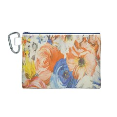 Texture Fabric Textile Detail Canvas Cosmetic Bag (m)