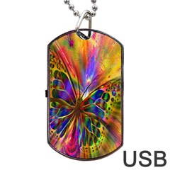 Arrangement Butterfly Aesthetics Dog Tag Usb Flash (two Sides)