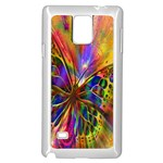 Arrangement Butterfly Aesthetics Samsung Galaxy Note 4 Case (White) Front