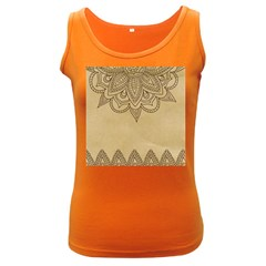 Vintage Background Paper Mandala Women s Dark Tank Top