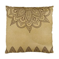 Vintage Background Paper Mandala Standard Cushion Case (two Sides)