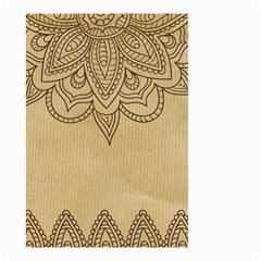 Vintage Background Paper Mandala Small Garden Flag (two Sides)