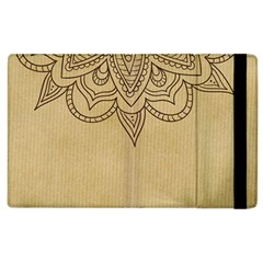 Vintage Background Paper Mandala Apple Ipad 3/4 Flip Case