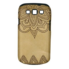 Vintage Background Paper Mandala Samsung Galaxy S Iii Classic Hardshell Case (pc+silicone)
