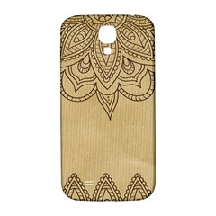 Vintage Background Paper Mandala Samsung Galaxy S4 I9500/i9505  Hardshell Back Case