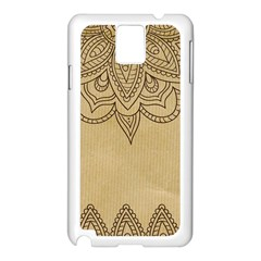 Vintage Background Paper Mandala Samsung Galaxy Note 3 N9005 Case (white)