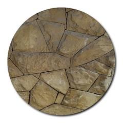 Brick Wall Stone Kennedy Round Mousepads