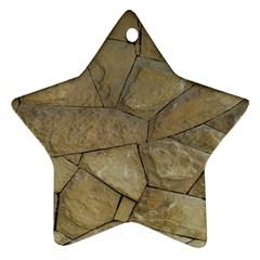 Brick Wall Stone Kennedy Ornament (star)