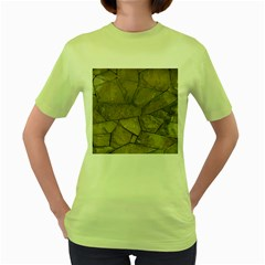 Brick Wall Stone Kennedy Women s Green T Shirt