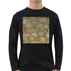 Brick Wall Stone Kennedy Long Sleeve Dark T Shirts
