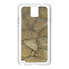 Brick Wall Stone Kennedy Samsung Galaxy Note 3 N9005 Case (white)