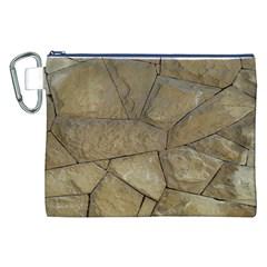 Brick Wall Stone Kennedy Canvas Cosmetic Bag (xxl)