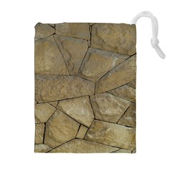 Brick Wall Stone Kennedy Drawstring Pouches (extra Large)