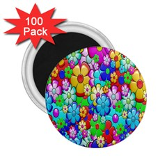 Flowers Ornament Decoration 2 25  Magnets (100 Pack)
