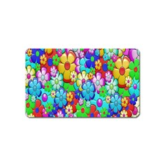 Flowers Ornament Decoration Magnet (name Card)
