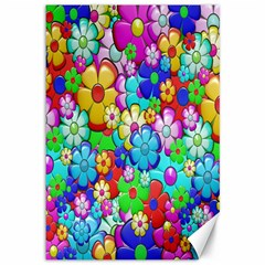 Flowers Ornament Decoration Canvas 12  X 18