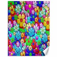 Flowers Ornament Decoration Canvas 36  X 48