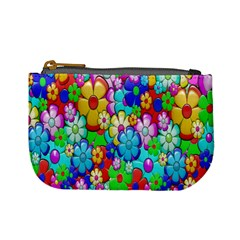 Flowers Ornament Decoration Mini Coin Purses