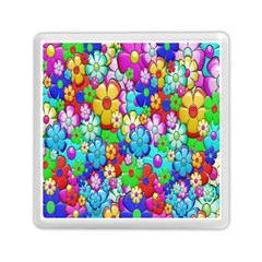 Flowers Ornament Decoration Memory Card Reader (square)