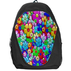 Flowers Ornament Decoration Backpack Bag