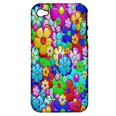 Flowers Ornament Decoration Apple Iphone 4/4s Hardshell Case (pc+silicone)