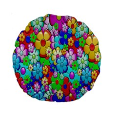 Flowers Ornament Decoration Standard 15  Premium Round Cushions
