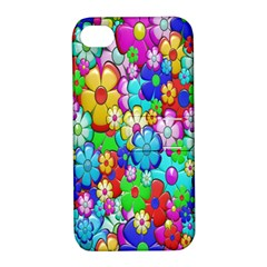 Flowers Ornament Decoration Apple Iphone 4/4s Hardshell Case With Stand