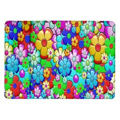 Flowers Ornament Decoration Samsung Galaxy Tab 10 1  P7500 Flip Case