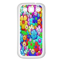 Flowers Ornament Decoration Samsung Galaxy S3 Back Case (white)