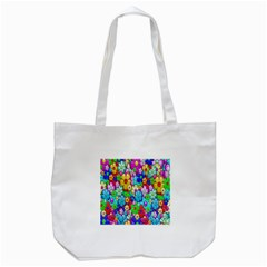 Flowers Ornament Decoration Tote Bag (white)
