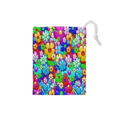 Flowers Ornament Decoration Drawstring Pouches (small)
