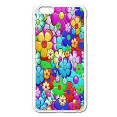 Flowers Ornament Decoration Apple Iphone 6 Plus/6s Plus Enamel White Case