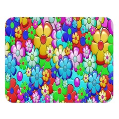 Flowers Ornament Decoration Double Sided Flano Blanket (large)