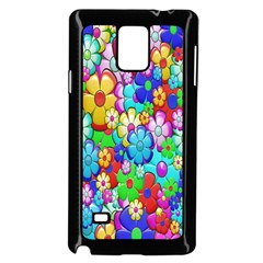 Flowers Ornament Decoration Samsung Galaxy Note 4 Case (black)