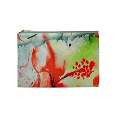 Fabric Texture Softness Textile Cosmetic Bag (medium)