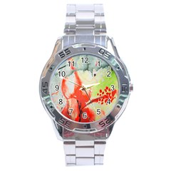 Fabric Texture Softness Textile Stainless Steel Analogue Watch
