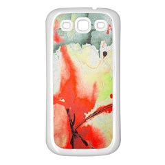 Fabric Texture Softness Textile Samsung Galaxy S3 Back Case (white)